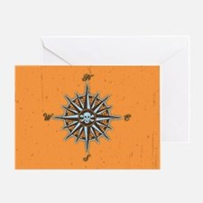 compass-rose5-OV Greeting Card