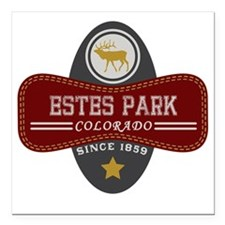 "Estes Park Natural Marqu Square Car Magnet 3"" x 3"""