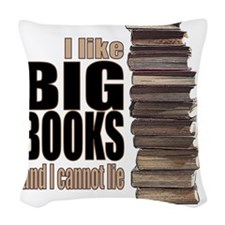 Big Books Woven Throw Pillow