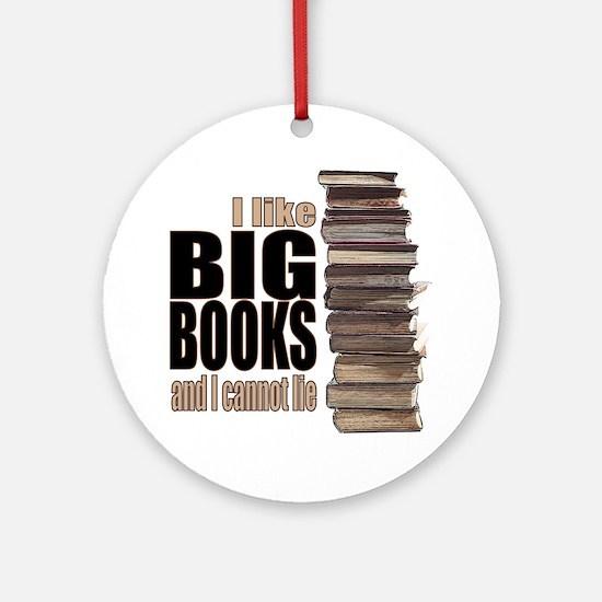 Big Books Round Ornament