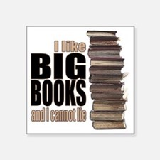 "Big Books Square Sticker 3"" x 3"""