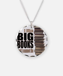 Big Books Necklace Circle Charm