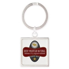 Rocky Mountain Natural Marquis Square Keychain