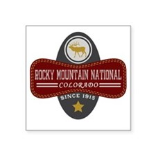 "Rocky Mountain Natural Marq Square Sticker 3"" x 3"""