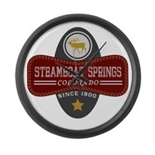 Steamboat Springs Natural Marquis Large Wall Clock
