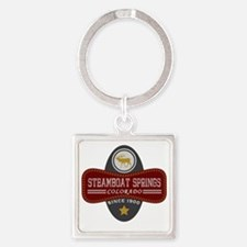 Steamboat Springs Natural Marquis Square Keychain