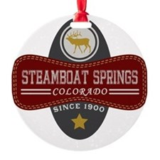 Steamboat Springs Natural Marquis Ornament