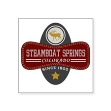 "Steamboat Springs Natural M Square Sticker 3"" x 3"""