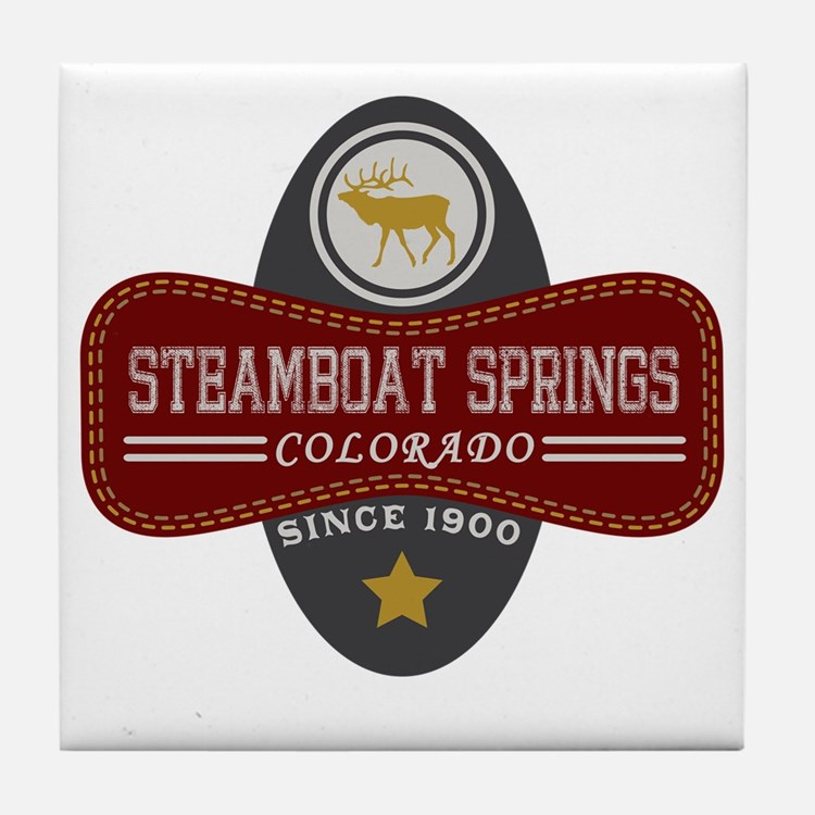 Steamboat Springs Natural Marquis Tile Coaster