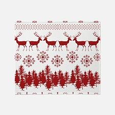 Ugly Christmas Sweater Throw Blanket