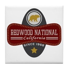 Redwood Natural Marquis Tile Coaster