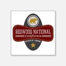 "Redwood Natural Marquis Square Sticker 3"" x 3"""