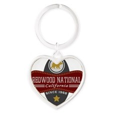 Redwood Natural Marquis Heart Keychain