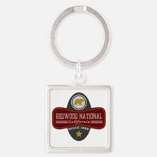 Redwood Natural Marquis Square Keychain