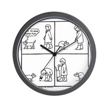 Double Poo In The Park Wall Clock