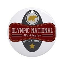 Olympic Natural Marquis Round Ornament