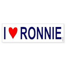 Bumper Sticker:I Love Ronnie