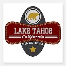 "Lake Tahoe Nature Marqui Square Car Magnet 3"" x 3"""