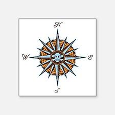 "compass-rose5-LTT Square Sticker 3"" x 3"""