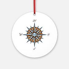 compass-rose5-LTT Round Ornament