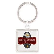Bighorn Natural Marquis Square Keychain