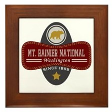 Mt. Rainier Natural Marquis Framed Tile