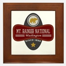 Mt. Rainier Natural Marquis Framed Tile
