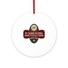 Mt. Rainier Natural Marquis Round Ornament