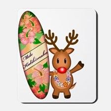 Mele Kalikimaka Deer with board Mousepad