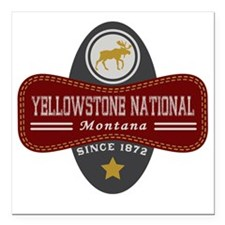 "Yellowstone Natural Marq Square Car Magnet 3"" x 3"""