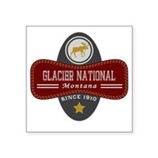 """Glacier Natural Marquis Square Sticker 3"""" x 3"""""""