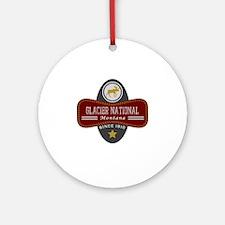 Glacier Natural Marquis Round Ornament