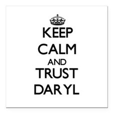 "Keep Calm and TRUST Daryl Square Car Magnet 3"" x 3"