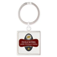 Colville Natural Marquis Square Keychain
