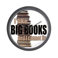 I like Big Books Wall Clock