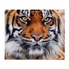 Siberian Tiger Male Throw Blanket