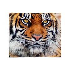 Siberian Tiger Male Throw Blanket