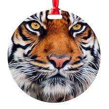 Siberian Tiger Male Round Ornament
