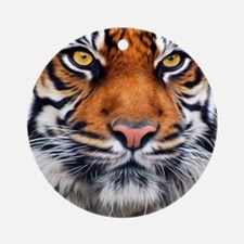 Siberian Tiger Male Round Ornament