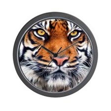 Male Siberian Tiger Wall Clock