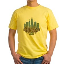 Chicago Skyline Newwave Beachy T