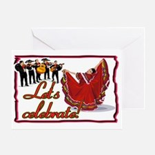 Mariachis and Mexican Dancer SIGN Greeting Card