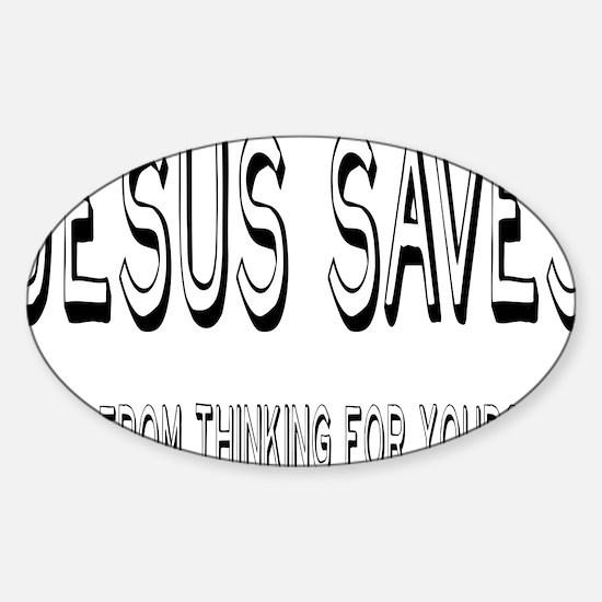 jesusrectangle Sticker (Oval)
