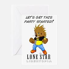 Leon On White #001 Greeting Card