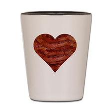 I'm bacon hearted Shot Glass