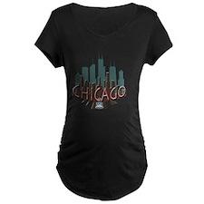Chicago Skyline Newwave Cho T-Shirt