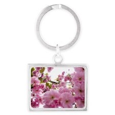 Spring time Cherry Blossoms Landscape Keychain