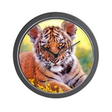 Tiger Baby Cub Wall Clock