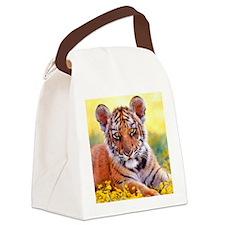 Tiger Baby Cub Canvas Lunch Bag
