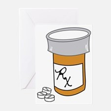 Pill Bottle Greeting Card